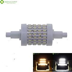 8W R7S LED-kolbepærer Nedfaldende retropasform 72 SMD 4014 700-800 lm Varm hvid Kold hvid Justérbar lysstyrke Vekselstrøm 85-265 V 1 stk.