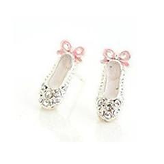 Κουμπωτά Σκουλαρίκια Κρύσταλλο Στρας Κράμα Λευκό Κοσμήματα Πάρτι Καθημερινά Causal 2pcs