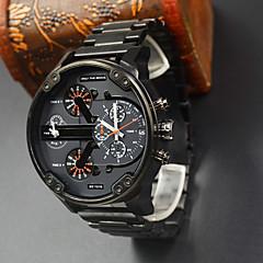 dz hombres del reloj del deporte de acero llena de marcas de lujo reloj militar del cuarzo de relojes de pulsera Relogio dz masculino