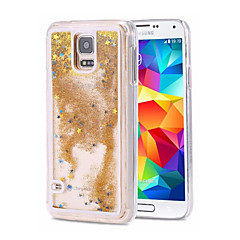 For Samsung Galaxy Note Flydende væske Etui Bagcover Etui Glitterskin PC for Samsung Note 5 Note 4 Note 3