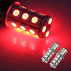 2 x 1157 SMD 5050 18 Red LED Flash Car Brake Tail Rear Signal Stop Light Lamp Bulb