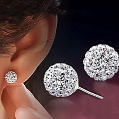 European Style Fashion Shambhala Rhinestone Ball Earrings