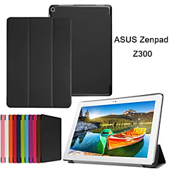 10.1 Inch Triple Folding Pattern High Quality PU Leather for Asus ZenPad 10(Z300C)(Assorted Colors)