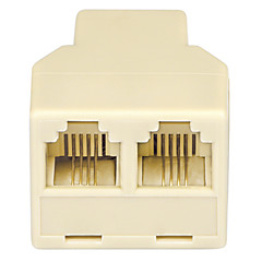 Shengwei® RS-112 RJ11 1 Male Port to 2 Female port Connection Adapter for Telephone