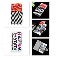 Pour Coque iPhone 5 Porte Carte / Clapet Coque Coque Intégrale Coque Dessin Animé Dur Cuir PU iPhone SE/5s/5