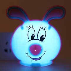 Energy-saving LED Cute Rabbit Light-Operated Mode Night Light Lamp
