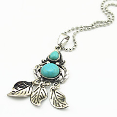 Jewelry Pendant Necklaces / Vintage Necklaces Party / Daily / Casual / Sports Alloy / Gem / Turquoise 1pc Women Wedding Gifts