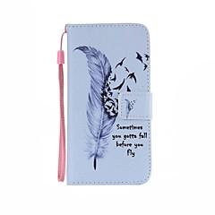 Για Samsung Galaxy Θήκη Θήκη καρτών / Πορτοφόλι / με βάση στήριξης / Ανοιγόμενη / Με σχέδια tok Πλήρης κάλυψη tok Φτερό Συνθετικό δέρμα