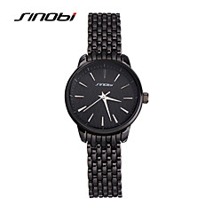 SINOBI Dames Modieus horloge Kwarts Waterbestendig Legering Band Zwart Zwart