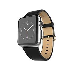 Watch band til æbleur 38mmm 42mm læder udskiftning trin armbånd med adapter