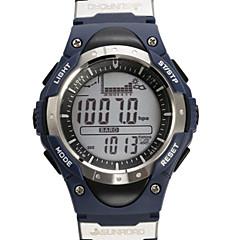 Herre / Dame / Unisex Armbåndsur DigitalLCD / Høydemåler / Termometere / Kalender / Kronograf / Vannavvisende / Dobbel Tidssone /