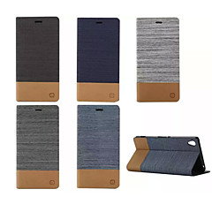 Luxury Flip Canvas Leather Case With Wallet Card Slot Holder For Sony Xperia M2/M4/E4/C4/Z3/Z4/Z3 Mini/T3