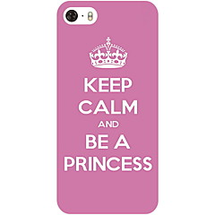 Patrón Corona Proverbio duro caso para iPhone5/5S