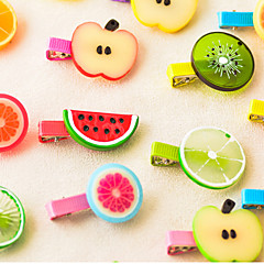 Set of 2 Candy Girl Sweet Style Fruit Barrette Hair Jewelry (Random Color)