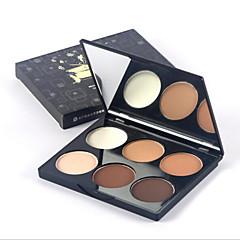 6 Powder Kuiva Pressed powderKosteus / Vaalennus / Peitevoide / Epätasaiselle iholle / Luonnollinen / Silmäpusseille / Huokosten