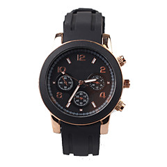 Exquisite Fashion Black Silicone Mens Watch