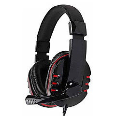 kanen km-790 fone de ouvido estéreo com microfone omnidirecional baixo (preto)