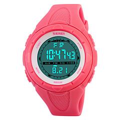 Γυναικεία Αθλητικό Ρολόι Ψηφιακό LED Ημερολόγιο Χρονογράφος Ανθεκτικό στο Νερό συναγερμού Αθλητικό Ρολόι PU Μπάντα Μαύρο Μπλε Πράσινο Ροζ