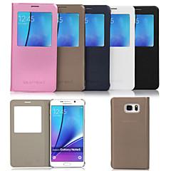 originele flip pu lederen venster Smart Auto-slaap full body case voor Samsung Galaxy Note 5 (verschillende kleuren)