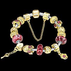Fashion jewelry Strand Beads Bracelets Beads Glass Beads Charm Bracelets 18K Gold European beads for women PH024