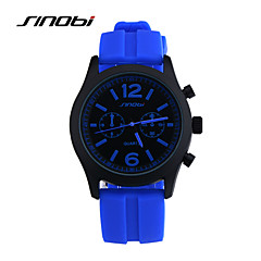 Hombre Reloj de Pulsera Cuarzo Resistente al Agua / Reloj Deportivo Silicona Banda Azul Marca- SINOBI