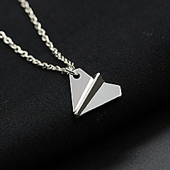 Women's Fashion One Direction Necklace Paper Airplane Pendant Alloy Necklace 1pc