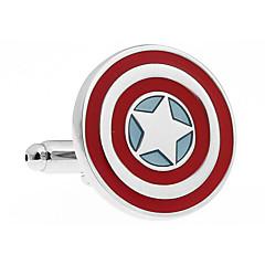 kaptajn sølv manchetknapper stjerne mønster metal fransk shirt links manchetknapper for mænd 1 sæt