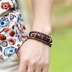 Unisex Alloy Leather Handcrafted Vintage Bracelet(More Colors)