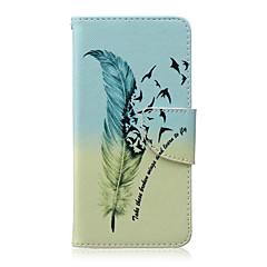 Voor LG hoesje Kaarthouder / Portemonnee / met standaard / Flip hoesje Volledige behuizing hoesje Veer Hard PU-leer LG LG Nexus 5X
