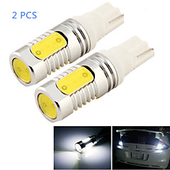 2pcs t10 8w 800LM 4-cob levou 6000k luz branca lâmpada LED Car Light (DC 12V)
