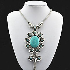 Jewelry Pendant Necklaces / Vintage Necklaces Party / Daily / Casual / Sports Alloy / Rhinestone / Turquoise 1pc Women Wedding Gifts