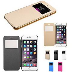 Para Funda iPhone 6 / Funda iPhone 6 Plus con Ventana / Flip Funda Cuerpo Entero Funda Un Color Dura Cuero SintéticoiPhone 6s Plus/6 Plus