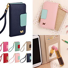 DF Colorful Little Bird PU Leather Full Body Case with Strap for iPhone 5/5S(Assorted Colors)