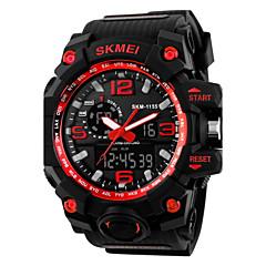 SKMEI Herren Armbanduhr Digitaluhr Quartz digital Japanischer Quartz LCD Kalender Chronograph Wasserdicht Duale Zeitzonen Alarm Caucho