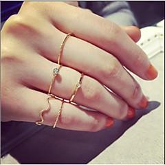 Love2sis Fashion Circle Rhinestone 5 piece Female Rings