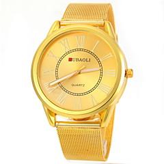 JUBAOLI Męskie Zegarek na nadgarstek Kwarcowy Na codzień Stal nierdzewna Pasmo Złoty Gold White Black