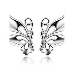 S925 Fine Silver Butterfly Stud Earrings