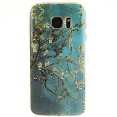 Varten Samsung Galaxy S7 Edge Kuvio Etui Takakuori Etui Puu TPU Samsung S7 edge / S7 / S6 edge plus / S6 edge / S6