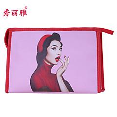 Przechowywanie kosmetyków Kosmetyczka / Przechowywanie kosmetyków PU Kreskówka Kwadratowy 19x11.6x10cm Brązowy / Czerwony / Rose