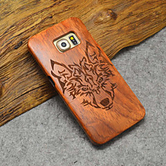 Natural Wood Samsung Case Timberwolves Forest Wolf Totem Hard Back Cover for Galaxy S6 edge+/S6 edge/S6
