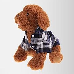 katten / honden T-shirt Rood / Groen / Blauw Hondenkleding Zomer / Lente/Herfst Geruit Casual/Dagelijks / Klassiek