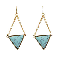 Earring Drop Earrings Jewelry Women Wedding / Party / Daily / Casual / Sports Alloy / Agate 1 pair Gold