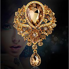 Women's Luxury Rhinestone Crystal Brooch for Wedding Party
