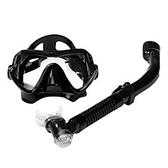 Diving Masks Two-Window Adult / Unisex Glass / silicone Black / Red / Yellow / Blue