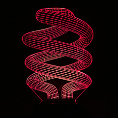 Visual 3D Spiral Color-changing LED Decoration USB Table Lamp Colorful Gift Night Light