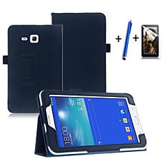 Na Z podpórką / Auto uśpienie/włączenie / Flip Kılıf Futerał Kılıf Jeden kolor Twarde Skóra PU Samsung Tab 3 Lite