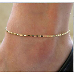 European Simple Chain Alloy Anklet Daily / Casual 1pc