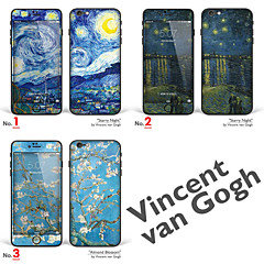 """iPhone 6 Plus/6S Plus Body Art Skin Sticker: """"Works by Vincent van Gogh (Part 1 of 3)"""" (Masterpieces Series)"""