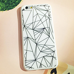 Black and White Triangle Pattern Back Case for iPhone 6s 6 Plus