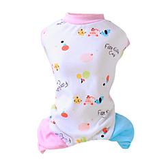 Gatos / Perros Pijamas / Mono Rosado / Amarillo Ropa para Perro Invierno / Primavera/Otoño Caricaturas Moda